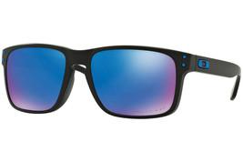New Oakley Sunglasses HOLBROOK(A) MATTE BLACK/SAPPHIRE OO9244-19 POLARIZED - $202.46
