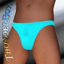 Lycra Spandex Arabian Blue Contour Brief, Poser, Swim, Casual Size S, M, L, XL - $20.00