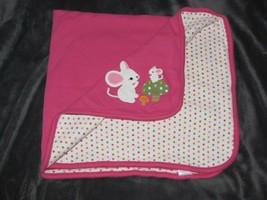 Gymboree Cute As A Mouse Baby Blanket Pink Mice Mushroom Polka Dot 2011 - $38.60