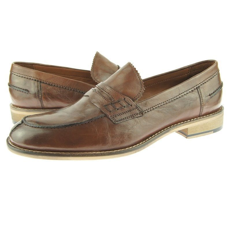 Tan Sole Genuine Leather Brown Color Moccasin Loafer Slip On Classical Men Shoes