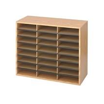 Safco Products Wood/Corrugated Literature Organizer, 24 Compartment, 940... - $95.44