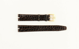LADIES GUCCI 16MM GENUINE DARK BROWN LEATHER WATCH BAND CROCO GRAIN  - $89.95
