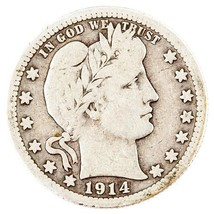 1914-S 25C $.25 BARBER QUARTER, VERY GOOD CONDITION, BEAUTIFUL COIN! - $217.79