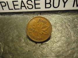 1945 CANADIAN CENT COIN    ****     >> COMBINED SHIPPING  - $1.73