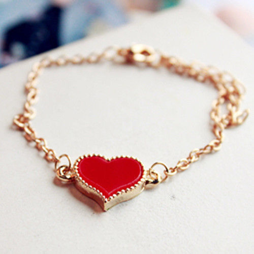 Primary image for Valentines Gift Women's Fashion Jewelry Gold print  Hand Link Chain Bracelet