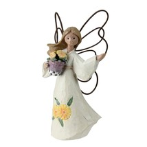 Roman Set of 4 November Angels with Marigolds Figurines #49311 - $11.62