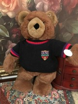 Gund 1988 Large 19 inch Collectors Classic Brown Furry Bear Sweater with Patch - $175.43