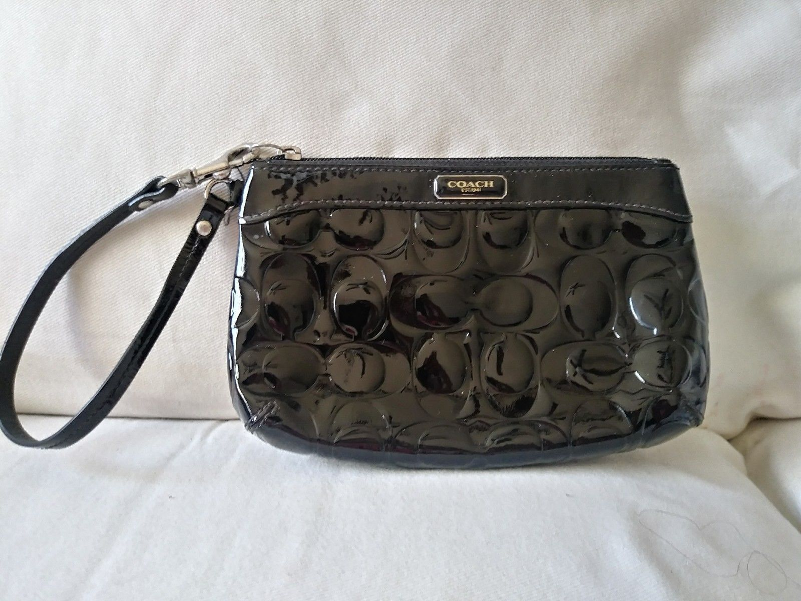 25f913bd9596 Coach wristlet black patent leather and 50 similar items. S l1600