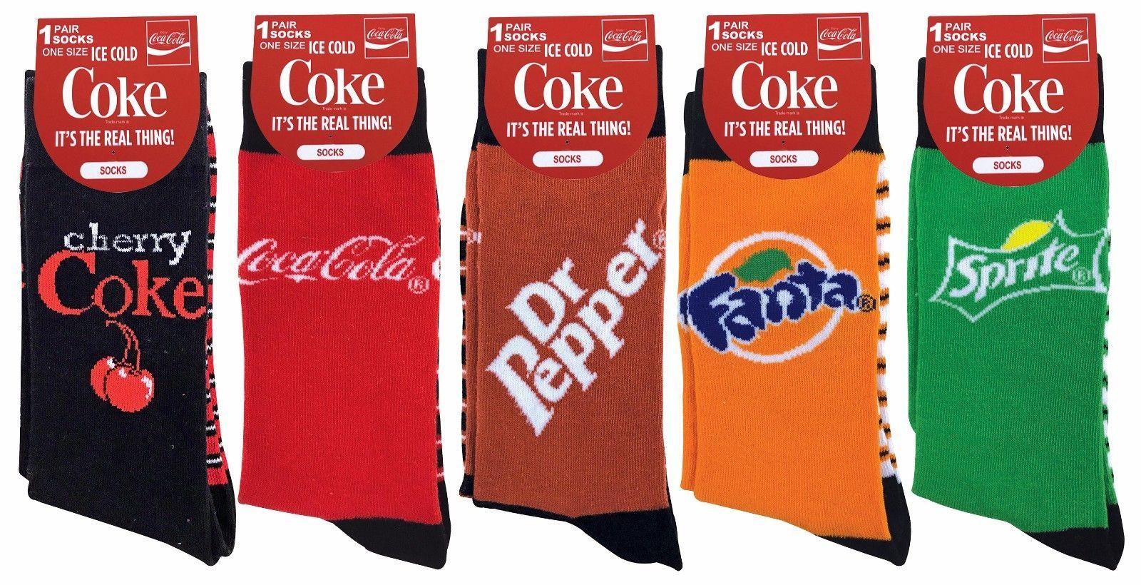 Coca Cola - 5 Pares Femme Homme Respirant Fantaisie Nouveauté Coloré Chaussettes