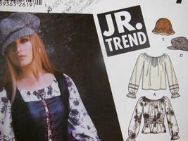 Simplicity 5799 Junior Trend Blouse Corset Vest Hats bags UNCUT Clean Smoke free image 2