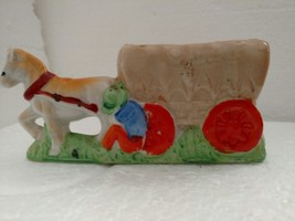 Horse Wagon Planter Made in Japan - $5.93