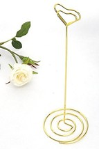 NX Garden 20 Pack 8.75 Inch Gold Tall Place Card Holders Heart Shape Tab... - $25.85