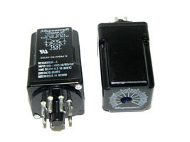 LOT OF 2 MAGNECRAFT W214ACPS0X-1 TIME DELAY RELAYS 120VAC