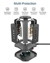 Surge Protector Power Strip Tower 10ft Extension Cord 4 USB Port 9 Outlet Deskto image 3