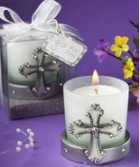 Regal Favor Collection Cross Themed Candle Holders - $119.06