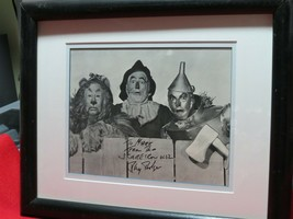 Ray Bolger signed Scarecrow-Wizard Of Oz. Beautifully double matted. - $148.00