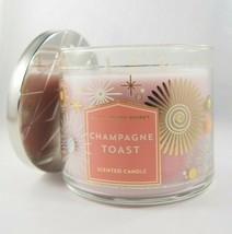 (1) Bath Body Works Fireworks Champagne Toast 3-wick Scented Candle Larg... - $23.74