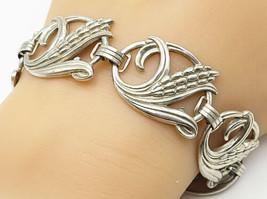 DANECRAFT 925 Silver - Vintage Corn Cob Swirl Design Chain Bracelet - B4581 - $92.28