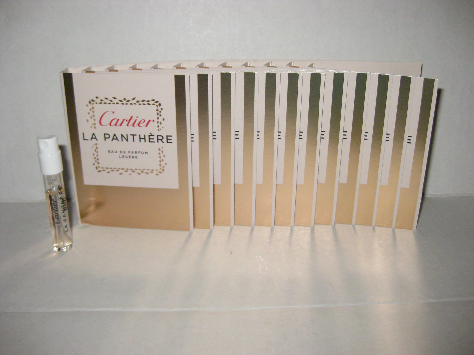 12 x La Panthere Legere by Cartier 1.5ml. Eau De Parfum Women Spray Sample Vial