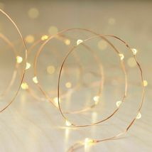 Philips C 30ct WARM WHITE DewDrop Lights COPPER WIRE Wedding Craft Bulk Lot of 6 image 4