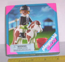 PLAYMOBIL SPECIAL 4641 HORSE & RIDER GIRL Play Set NEW 2004 SPOTTED PONY... - $14.99