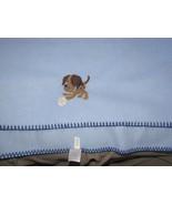 "GARANIMALS BOYS BLUE BLANKET BROWN PUPPY DOG BASEBALL FLEECE SOFT 30"" x 40"" EUC - $15.04"