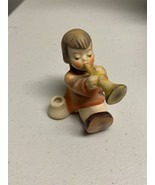 "Hummel Angel ""Joyous News"" Girl With A Trumpet Candleholder - $18.69"