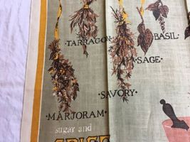 VTG SUGAR AND SPICE AND EVERYTHING NICE HERBS Kitchen Tea Towel UNUSED image 4
