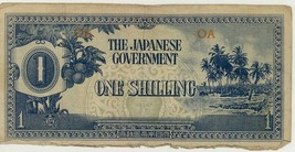 Japanese Government Oceania One Shilling Note F+ - $7.99