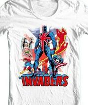Union Jack The Invaders T Shirt vintage Marvel Comics 1970s graphic tee  image 2