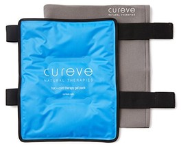 "Large Hot and Cold Therapy Gel Pack with Wrap by Cureve 12"" x 15"" - Reusable Ice"