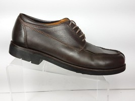 COLE HAAN Mens Size 10.5 M Oxfords Rugged Casual Brown Leather VIBRAM Soles - $40.50