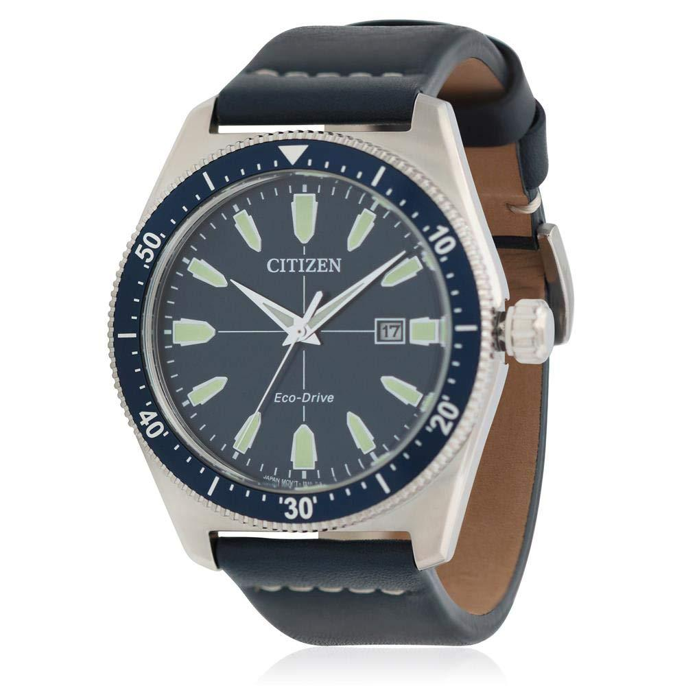 Citizen Men's Eco-Drive Blue Leather Brycen Watch AW1591-01L