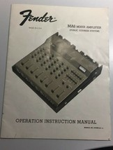 VTG '77 Fender MA6 Mixer Amplifier Owner Operating Manual & Powered Mixe... - $12.09