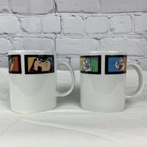 Vintage 2001 Looney Tunes Coffee Mug Gibson Housewares Lot Of 2 Taz Bugs... - $28.04