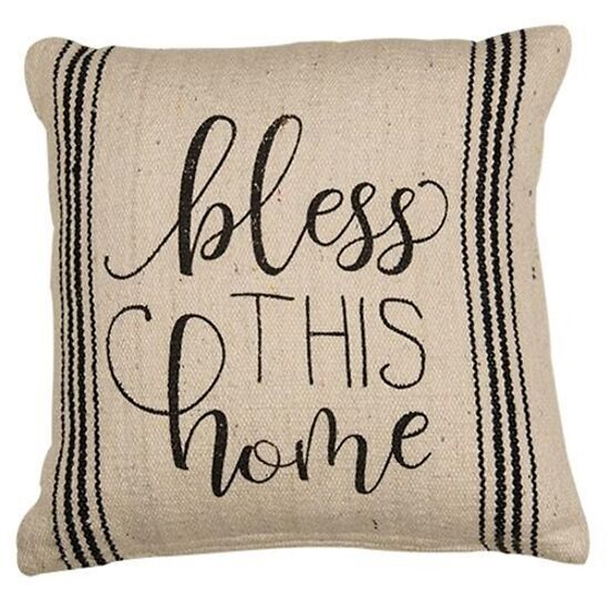 """New Farmhouse Bless This Home Pillow Country Home Decor 10"""" Square - $29.95"""