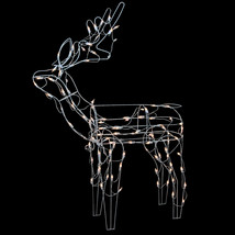 "Northlight 43"" Lighted White Standing Reindeer Christmas Outdoor Decoration - €42,88 EUR"