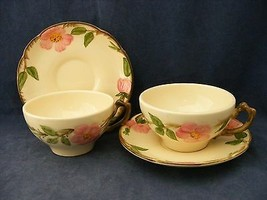 2 Franciscan Desert Rose Cups & Saucers Made in Ca  Excellent Condition - $9.95
