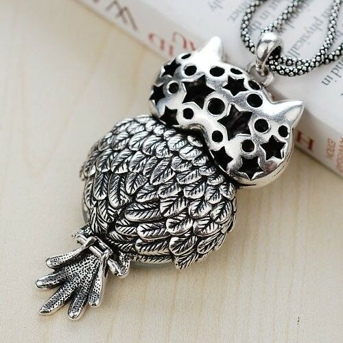 Chaomingzhen Austrian Crystal Vintage Owl Pendant Long Necklace for Women image 4