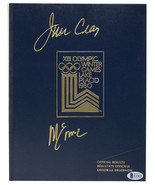 Jim Craig & Mike Eruzione Signed 1980 Olympic Games Results Book BAS - $352.43