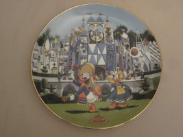 DISNEYLAND'S 40TH ANNIVERSARY #3 collector plate IT'S A SMALL WORLD Disney - $23.92