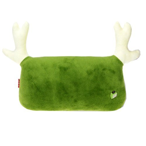 Simple Design Car Headrest/Car Neck Pillow ,(Lovely Elk) Matcha Green