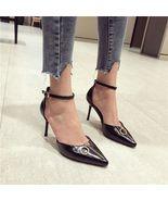 8Ah201 candy color fashion pump, block heel, Size 3-10.5, black - $78.80