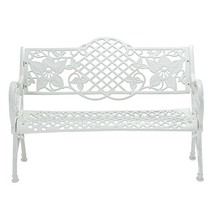 Cast Aluminum Garden Bench from Island Gale, Classic Lattice And Floral ... - $549.00