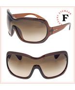 PRADA ILLUSION 18O Oversized Shield Mask Brown Sunglasses PR18OS Ski Unisex - $280.67