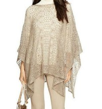 Ralph Lauren Poncho Open Knit Lace GORGEOUS Lightweight  NWT   Taupe Woo... - $89.09