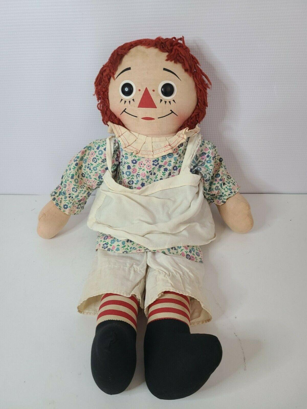 "Vintage Raggedy Ann Doll By Knickerbocker Rare 1960's 20 "" Rag Soft Doll Dressed - $65.99"