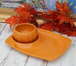 PFALTZGRAFF Chip Dip Set Pumpkin Orange Platter and Bowl, Thanksgiving - $69.00