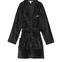 Victoria's Secret✨NEW✨VS  Cozy Plush Short Robe Black    - $59.40