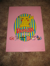 RARE JAPANESE POKEMON CATCH 'EM ALL WALL POSTER - $19.79
